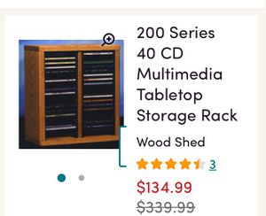 400 Series 40 CD Multimadia Table Top Storage Rack for Sale in Brooklyn, NY
