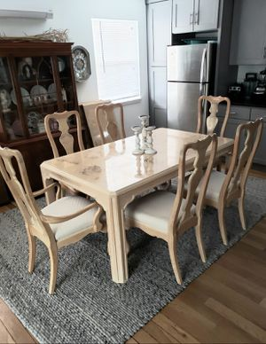 Dining Table & 6 Chairs Set Drexel Heritage Blonde Ash Solid Wood for Sale in Renton, WA