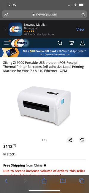 Zj-9200 Thermal Label Printer for Sale in San Leandro, CA