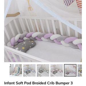 Braided Crib Bumper 3 Color Purple Grey White New for Sale in Fort Pierce, FL