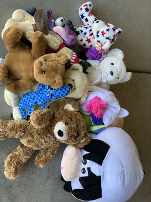 A bag of stuffed animals for Sale in Elk Grove, CA