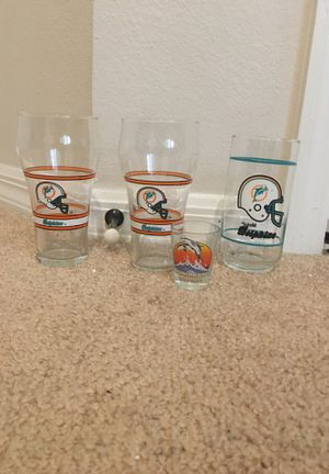 Miami Dolphins cups for Sale in Kissimmee, FL