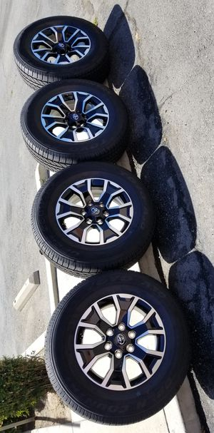 """17"""" 2020 TACOMA TRD SPORT 4X4 BRAND NEW RIMS AND TIRES TOYO for Sale in Rancho Cucamonga, CA"""