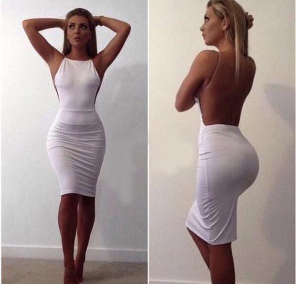 White Dress with Rhinestones