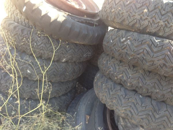 "Farm tractor tires 14"" and 15"" lots of tread"