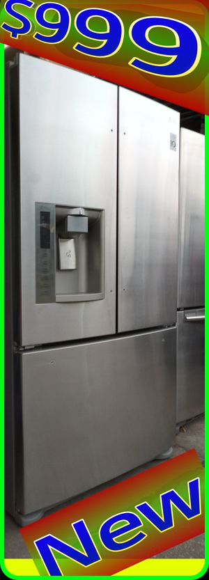 NEW LG 26 cu. ft. French Door Refrigerator Fridge freezer Stainless steel with ice/water dispenser for Sale in Houston, TX
