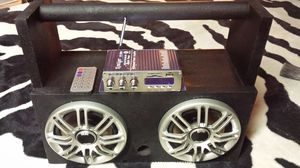 Bluetooth AM FM remote control homemade boombox for Sale in Westland, MI