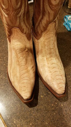 Lucchese Resistol Ranch Ostrich leg suede 10.5D for Sale in Amarillo, TX
