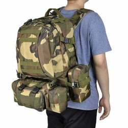 55L Molle Tactical Army Military Rucksacks Backpack Camping Outdoor Hiking Traveling Trekking Bag for Sale in Ontario,  CA
