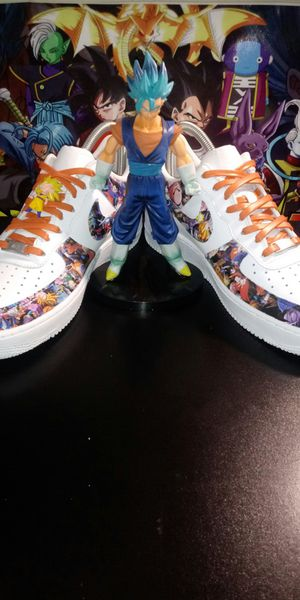 "Size 9 nike air 1 custom camo dragonball z ""read discription "" for Sale in Denton, TX"