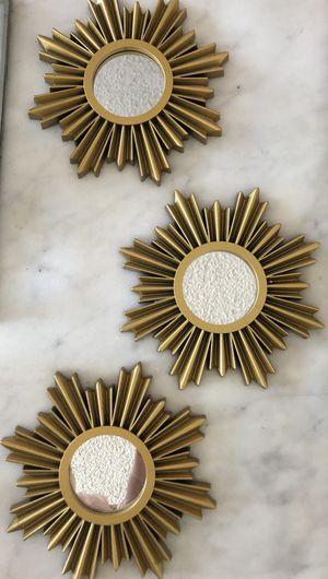 Gold Sunburst Wall Mirror Decor for Sale in Pasadena, CA