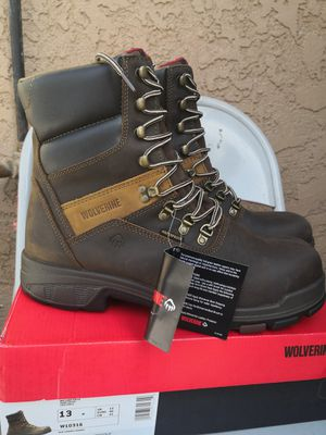 Brand new wolverine carbon 8 composite toe work boots size 13 for Sale in Riverside, CA