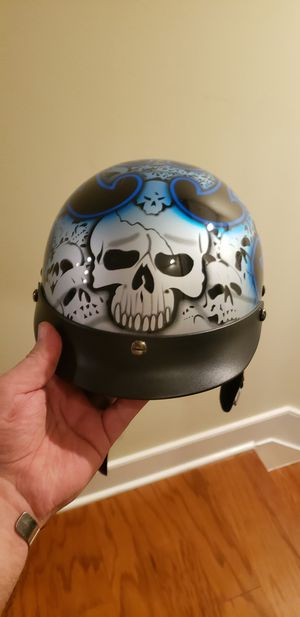 Motorcycle Helmet, skullcap, great looking! for Sale in Arlington, VA