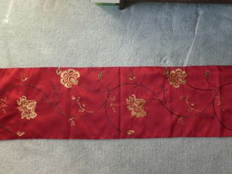 "Elegant Table Runner Red Embroidered 14"" X 58"" for Sale in Fallston,  MD"