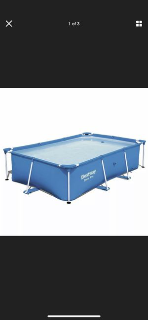 NEW Bestway 8.5ft x 5.6ft x 2ft Pro Rectangular Above Ground Swim Pool Only (Be on hand July 3rd) for Sale in Central Falls, RI