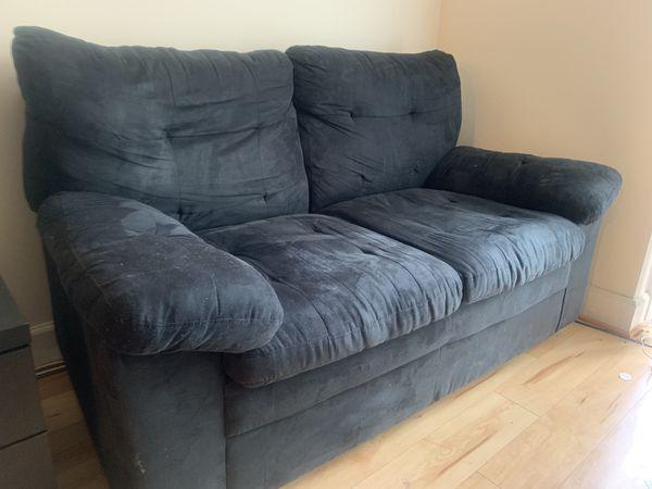 Black color sofa