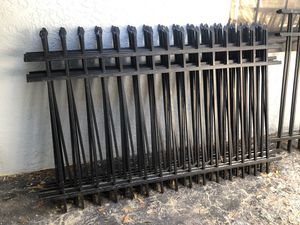 Fencing 4x6 black aluminum for Sale in Tampa, FL