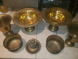 Solid brass fruit bowls for Sale in Palm Beach Gardens, FL