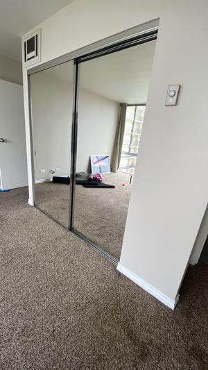 Mirror closet doors - trim line for Sale in San Diego, CA