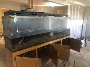 Fish tank with fish's/ dimensions unknown. for Sale in Bakersfield, CA
