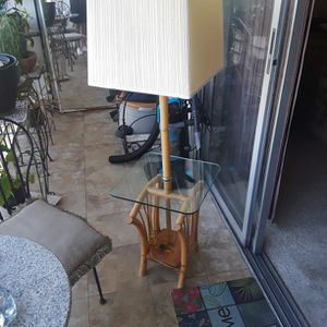 Lamp Glass Table Magazine Rack for Sale in Deerfield Beach, FL