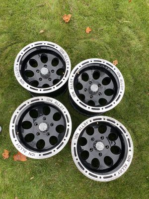 """Ion Alloy 174 Black Beadlock Wheels (16x10""""/5x135mm) for Sale in Mansfield, MA"""