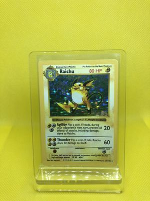 Pokemon Cards - Base Set Shadowless - Raichu for Sale in Winter Garden, FL