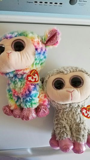 2 new Beanie babies lambies large beanies. Originally $11.99. Both for $16. for Sale in Rockville, MD