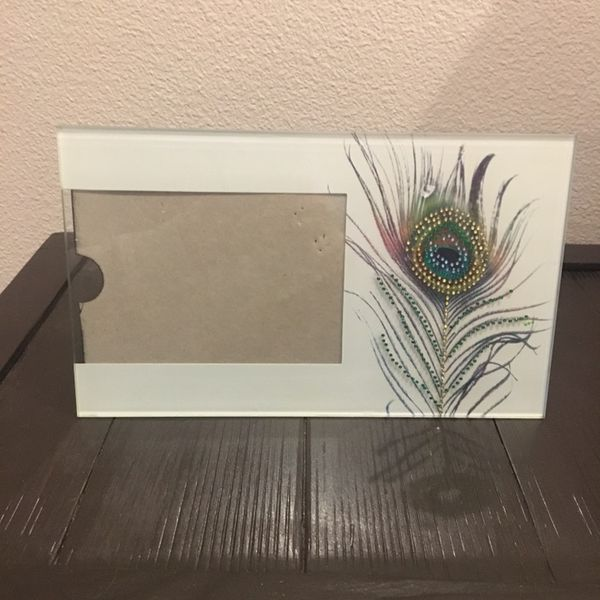 Peacock Feather Picture Frame