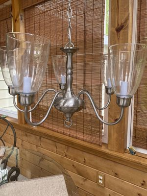 Chandelier in brushed nickel finish for Sale in West Chester, PA