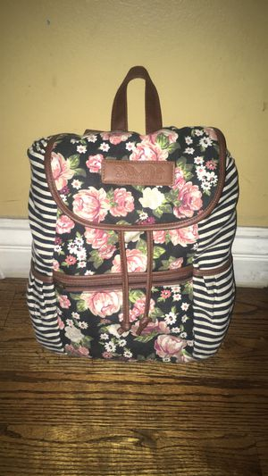 Pink floral backpack with stripes on side for Sale in Covina, CA