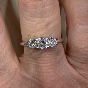 New CZ 3 Stone Sterling Silver Wedding Ring 8 for Sale in Palatine, IL