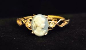 Small Cameo Ring, 18K Gold Plated Ring, Size 6 3/4 for Sale in East Providence, RI