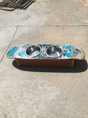 Harley Davidson skateboard deck dog food bowl holder for Sale in San Diego, CA
