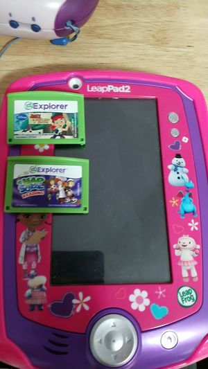 Leapster and leappad bundle with games - kids game tablet for Sale in Avon, MA