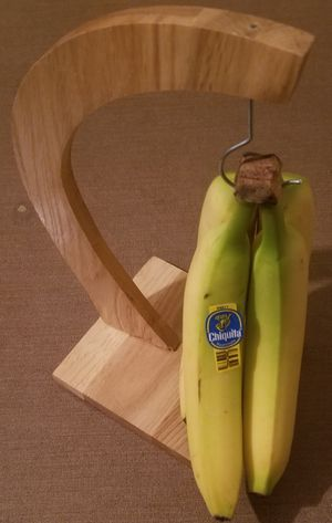 Wood banana holder hanger with metal hook NEW for Sale in Three Rivers, MI