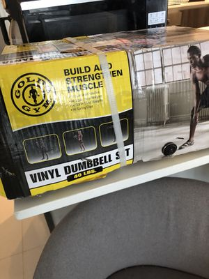 Gold Gym dumbbell set for Sale in Miami, FL