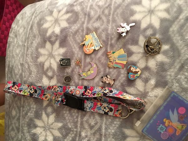 Disney collectible pin and lanyard