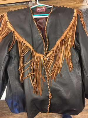 Western World Men's Fringe Leather Jacket size xxl for Sale in Daytona Beach, FL