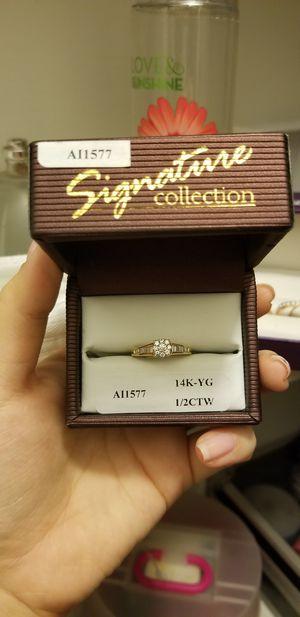 14K yellow gold 1/2 CTW Diamond Ring for Sale in Corona, CA