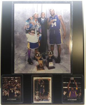 Kobe Bryant and shaq 3rd championship plaque for Sale in Bell, CA