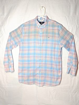 Boys Vineyard Vines Button Front Plaid Shirt sz XL 18 for Sale in Sykesville, MD
