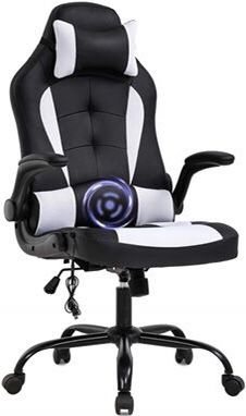 PC Gaming Massage Chair Office Ergonomic Leather Computer Lumbar Support Racing Executive Furniture for Sale in Toledo, OH