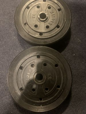 15lb standard weights for Sale in Columbus, OH