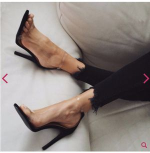 Size 8 Clear Ankle Strap Stiletto Heel for Sale in Las Vegas, NV