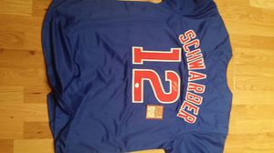 Chicago Cubs Kyle Schwarber signed Large jersey with COA for Sale in Chicago, IL
