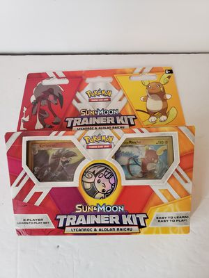Pokemon sun and moon trainer kit cards for Sale in Peoria, AZ