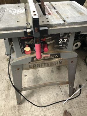 10 inch Craftsman table saw limited edition for Sale in Chicago, IL