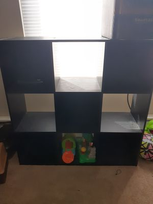 Black wooden organizer shelf for Sale in Columbus, OH
