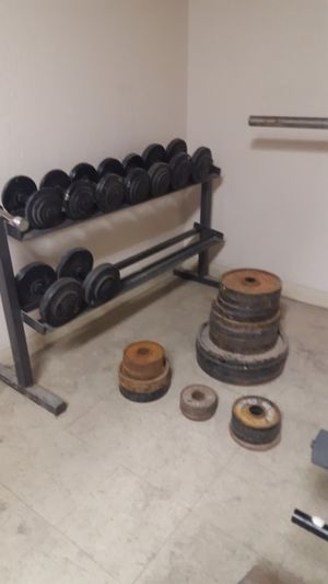 Weights and bench AND punching bag for Sale in Denver, CO